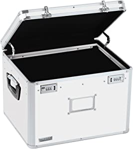 Vaultz Locking File Storage Chest, Two-Handled, Letter/Legal File Storage, 17 1/2 W x 14 D x 12 1/2 H Inches, White (VZ00169)