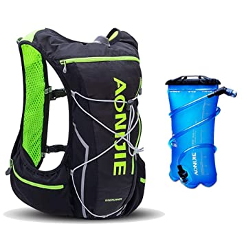 AONIJIE Mochila Hidratación Mochila Ligera 10 L Impermeable para Viajes, Senderismo, Camping,Correr