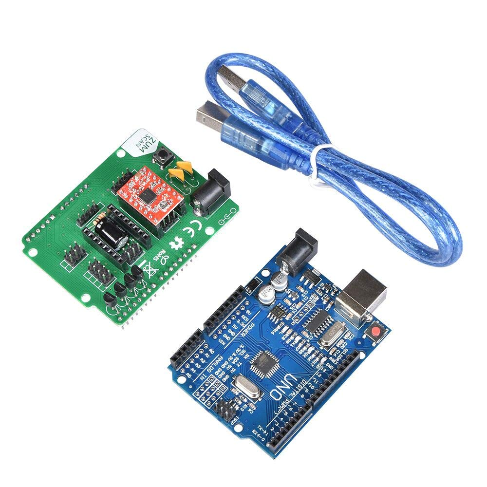 3D Scanner Board Kit Ciclop Expansion Board with A4988 UNO Controller Accessories for 3D Printer Electronic DIY kit - (Size: Type 1)