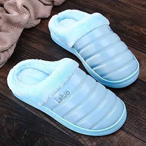 Insun Winter Slippers Voor Dames Pluche Pantoffels Huis Blauw
