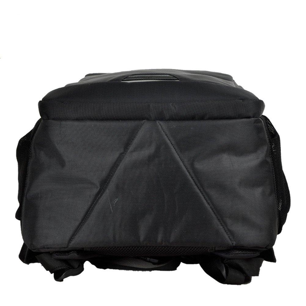 Sinpaid Fabriqué en sac à dos Oxford Business Laptop Backpack Waterproof Travel Daypack School Bookbag, camping durable ou sac à dos de randonnée (19inch, noir)