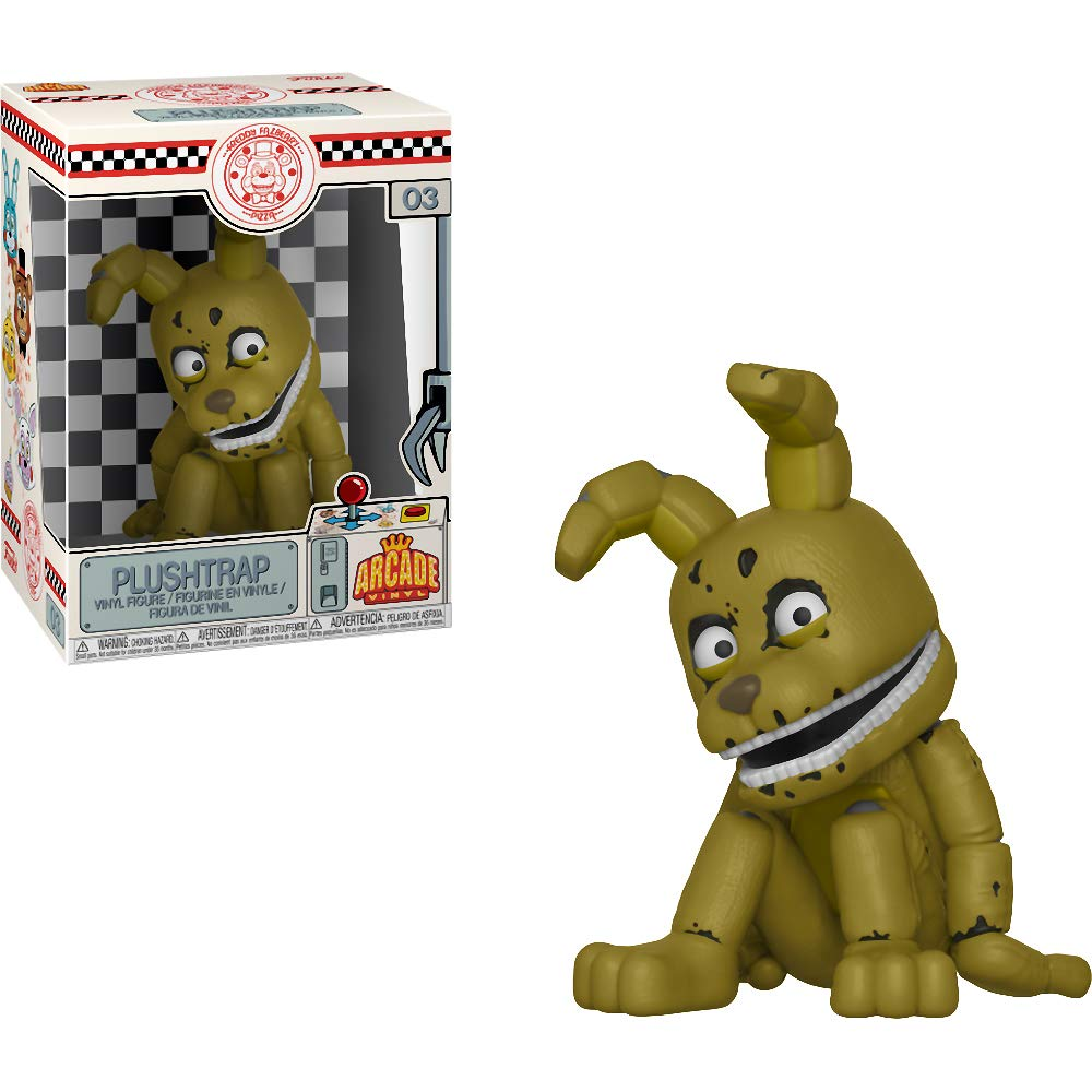 Five Nights at Freddys x Funko Aracde Vinyl Figure /& 1 POP Compatible PET Plastic Graphical Protector Bundle Plushtrap #003 // 30495 - B