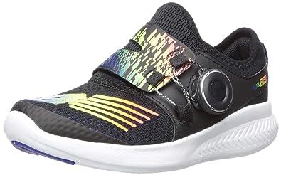 c58c55f5eb86 New Balance Boys  BKO V1 Running Shoe Black Rainbow 1.5 M M US Little Kid