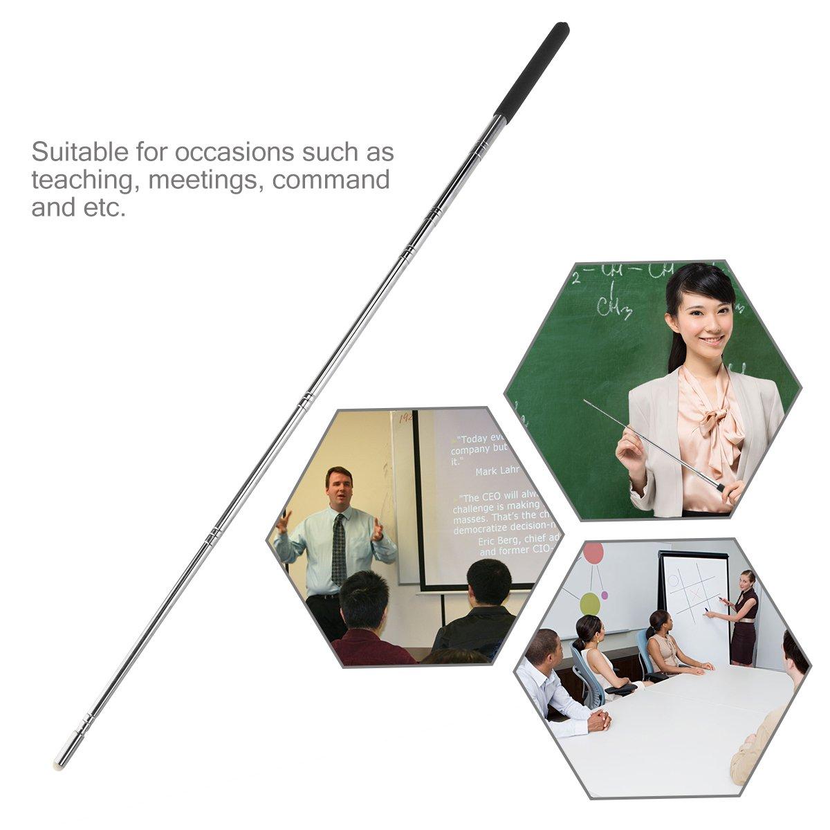 OULII T/élescopiques enseignants pointeur pointeur de l/'enseignement noir pointeur pointeur escamotable t/élescopique extensible pr/ésentateur poche classe tableau blanc du pointeur