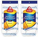 O-Cedar Hardwood Floor 'N More Microfiber Mop Refill (Pack of 2)