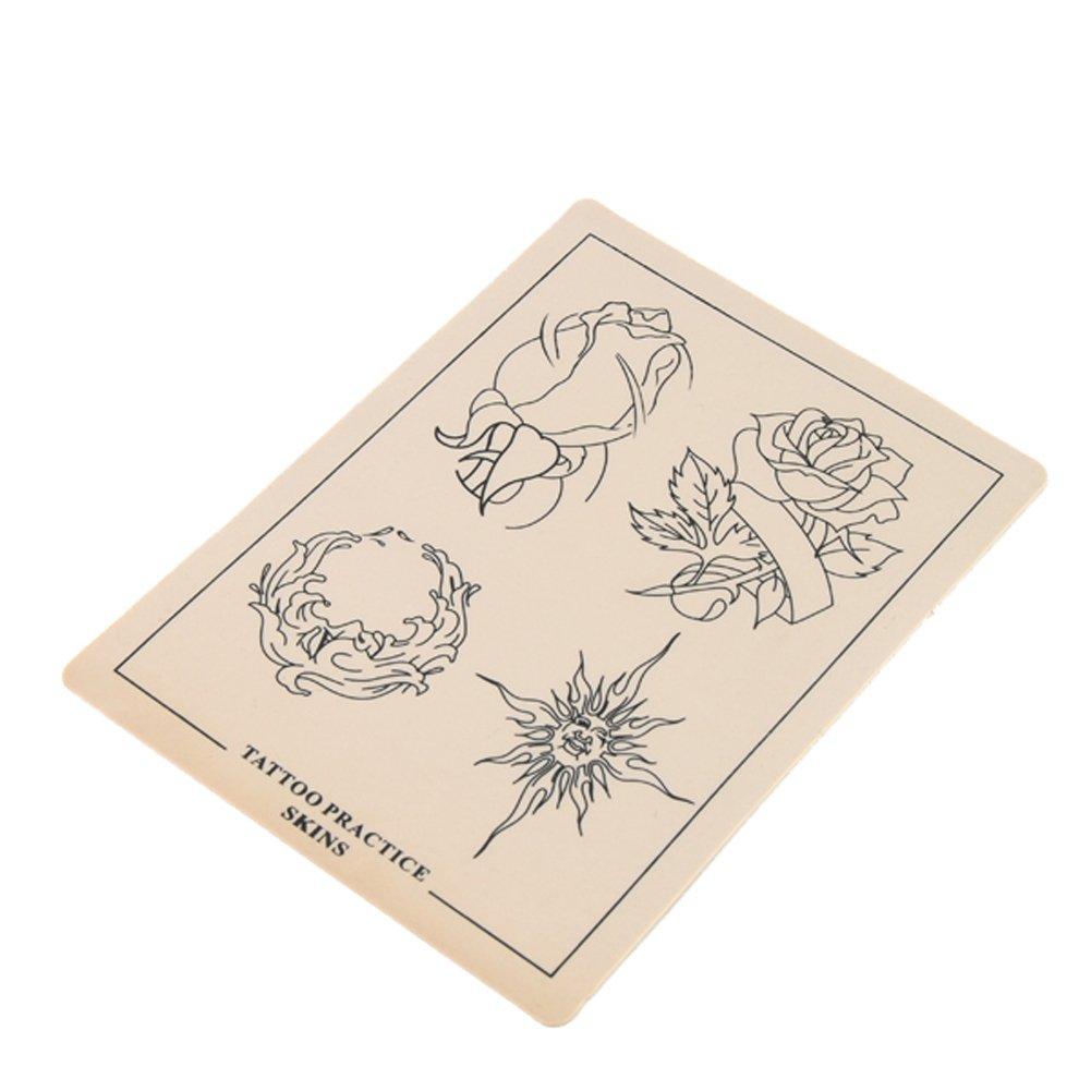 Flor y sol Tatuaje practica la piel 8