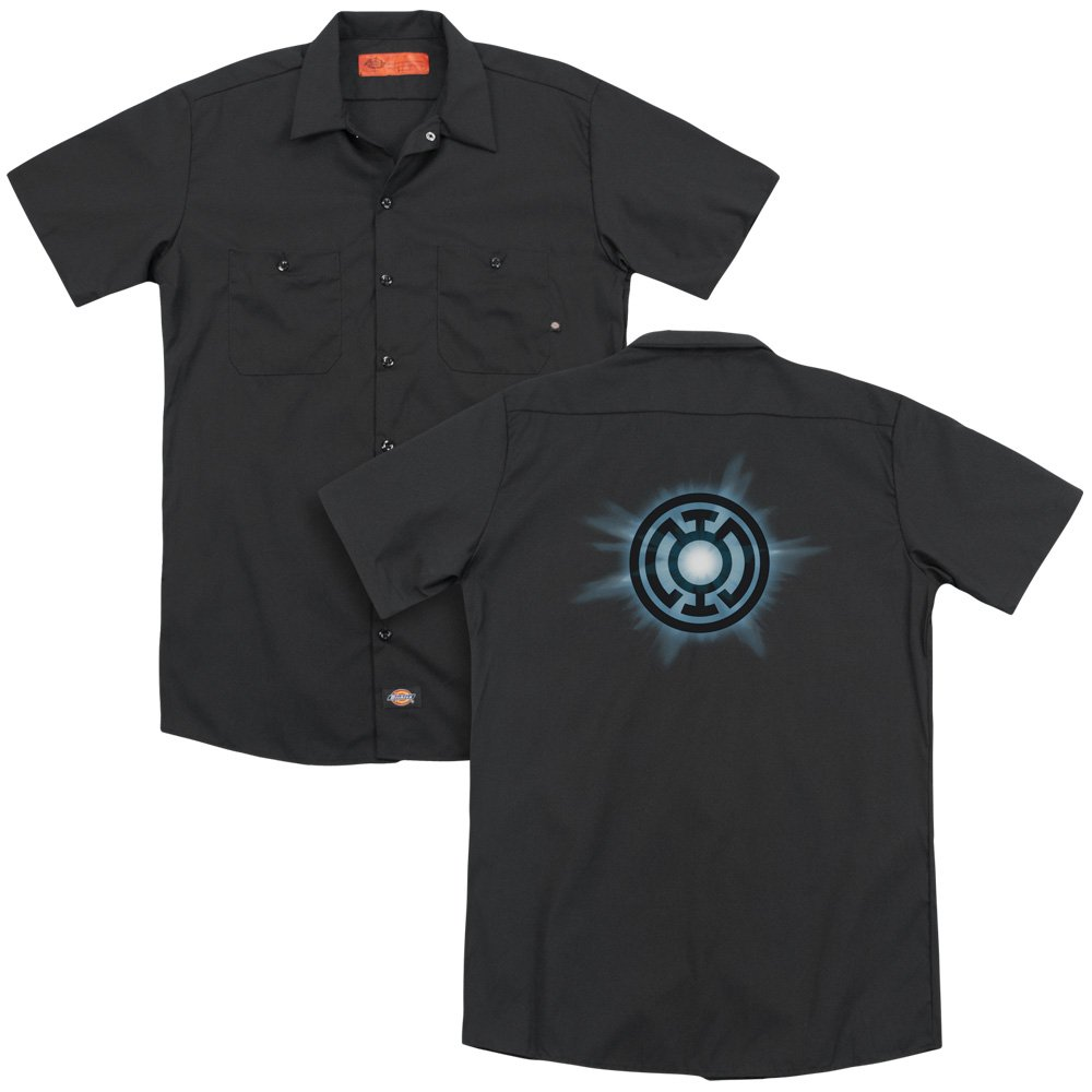 Green Lantern Blue Glow Adult Work Shirt