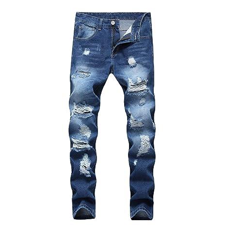 Amazon.com: ENIDMIL - Pantalones vaqueros para hombre, con ...