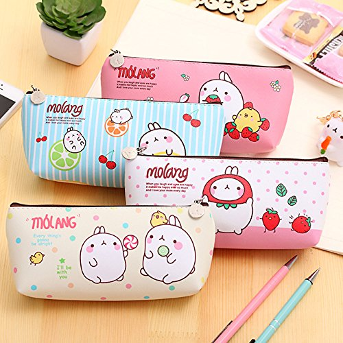 4pcs Cute Cartoon Pencil Case Student Pen Case Bag Stationary Cosmetic Makeup Bag Pouch - Fashion Stationary