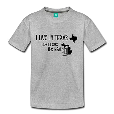 1fad6eee2 Amazon.com  Spreadshirt Live in Texas Love The D Detroit Toddler ...