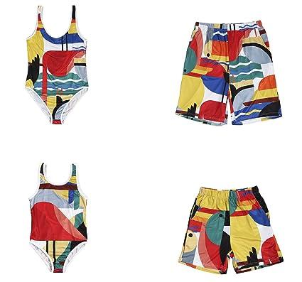 6eecefde690e2 Family Matching Clothing Dad and Boys Shorts Swimsuit Mom and Girls One  Piece Stripe Swimsuit Beachwear Swimwear: Amazon.co.uk: Clothing