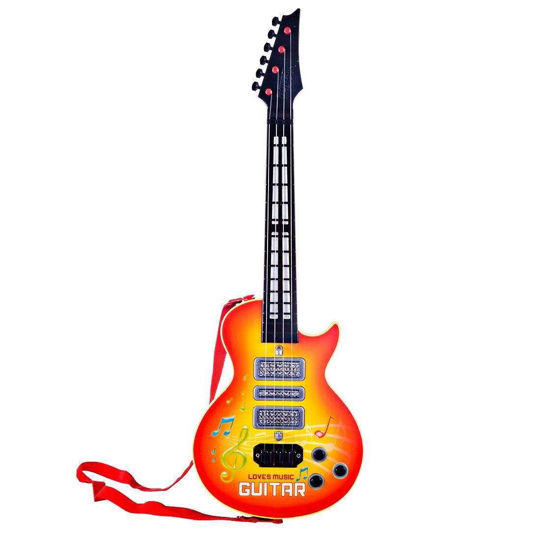 BOROK Guitarra Electrica Juguete Instrumento de Cuerda para Niños: Amazon.es: Juguetes y juegos