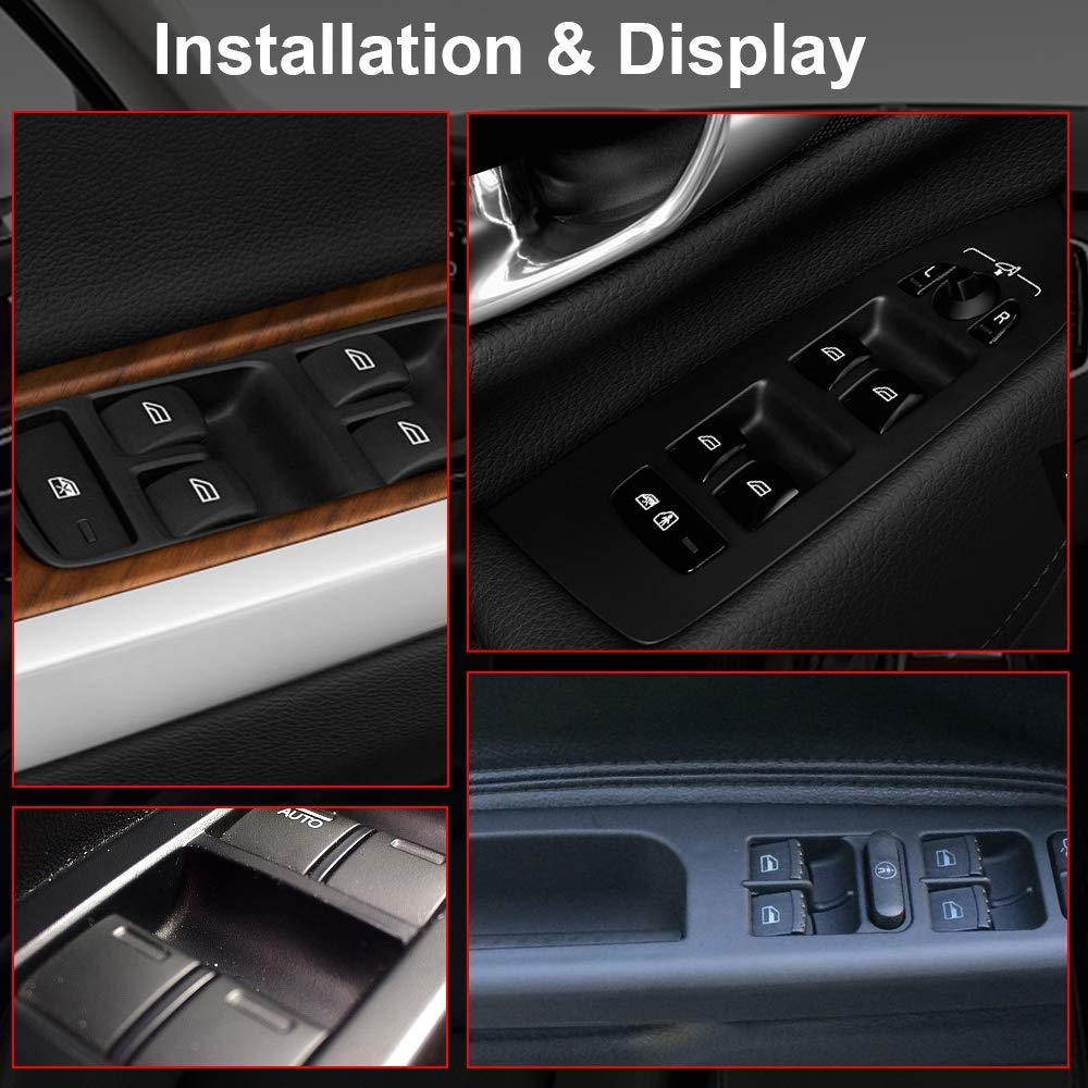 TERRAIN VISION Driver Side Power Window Master Control Switch For Chrysler 200 300 Sebring,Dodge Avenger Caliber Charger Magnum,Jeep Compass Patriot Mitsubishi Raider,Ram Dakota OE:4602780AA,4602780AB Ram Dakota OE/:4602780AA/,4602780AB