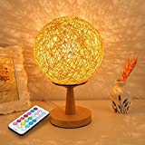 Welsun 10W RGB Desk Lamp Table Lamp Bedside Lamp Modern Sepak Takraw Wood Protect Eyesight For Home Bedroom Living Room Decoration