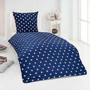 Dreamhome24 Hochwertige Microfaser Bettwäsche Bettbezug Sterne Stars