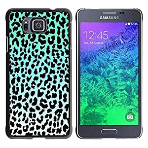 "For Samsung Galaxy Alpha G850 Case , Patrón Leopard Azul Negro Verde Blanco"" - Diseño Patrón Teléfono Caso Cubierta Case Bumper Duro Protección Case Cover Funda"