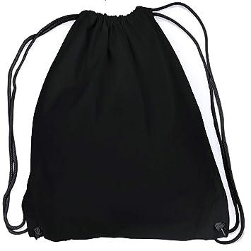 16e51f387ec49 vanVerden - Turnbeutel aus Baumwolle - All Black blanko unbedruckt -  schwarzer Stoff-Beutel