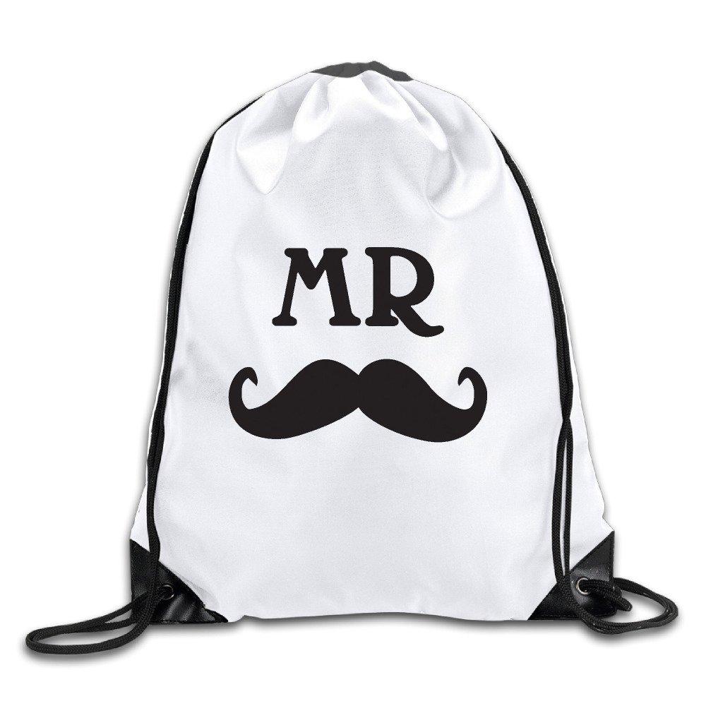 Mr & Mrs Wedding Gift Cool Drawstring Backpack Drawstring Bag