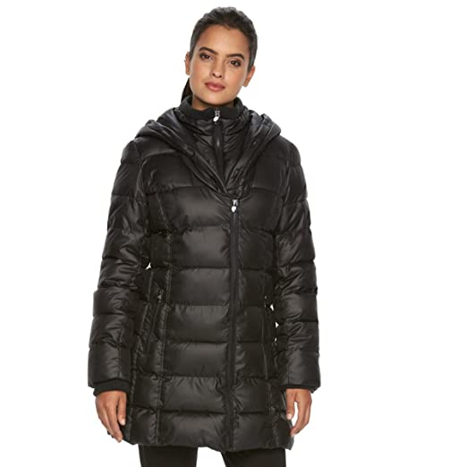 c89a6235e9 Apt 9 Women's Puffer Jacket Hooded (Small, Black) at Amazon Women's ...