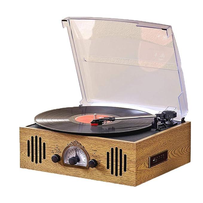 DNAN Reproductor de Discos de Vinilo Antiguo, fonógrafo ...