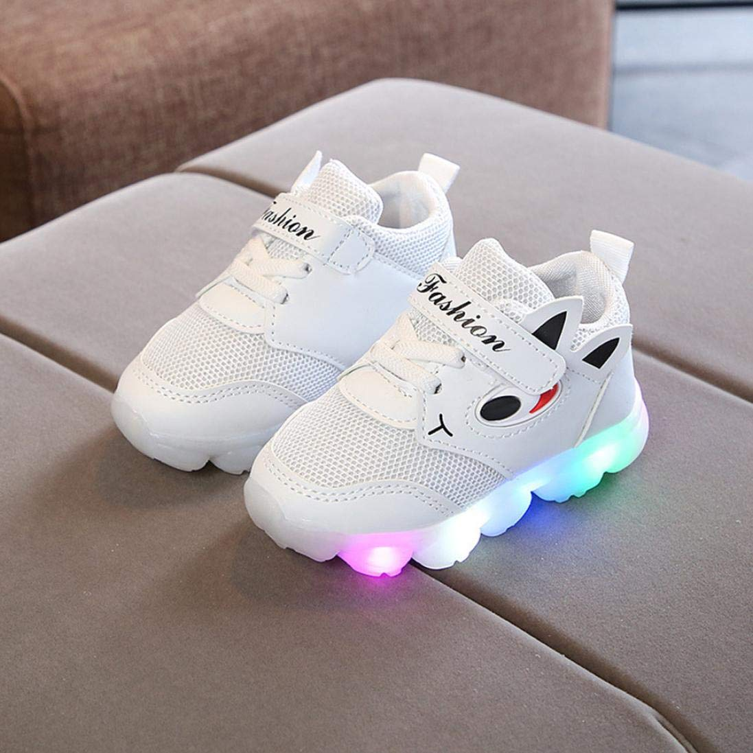 Zerototens Kids Led Shoes,1-6 Years Old Toddler Infant Baby Mesh Cartoon Eye Boots Sneakers Light up Luminous Shoes Soft Bottom Anti Slip Outdoor Athic Shoes Sport Running Shoes