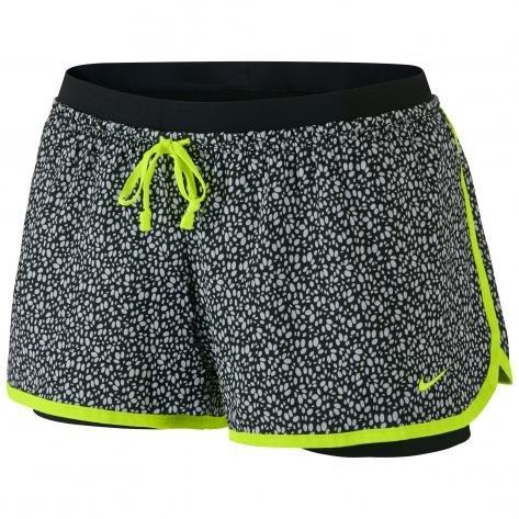 Nike Women's Full Flex 2-in-1 Splatter Spot Shorts, Black, XL