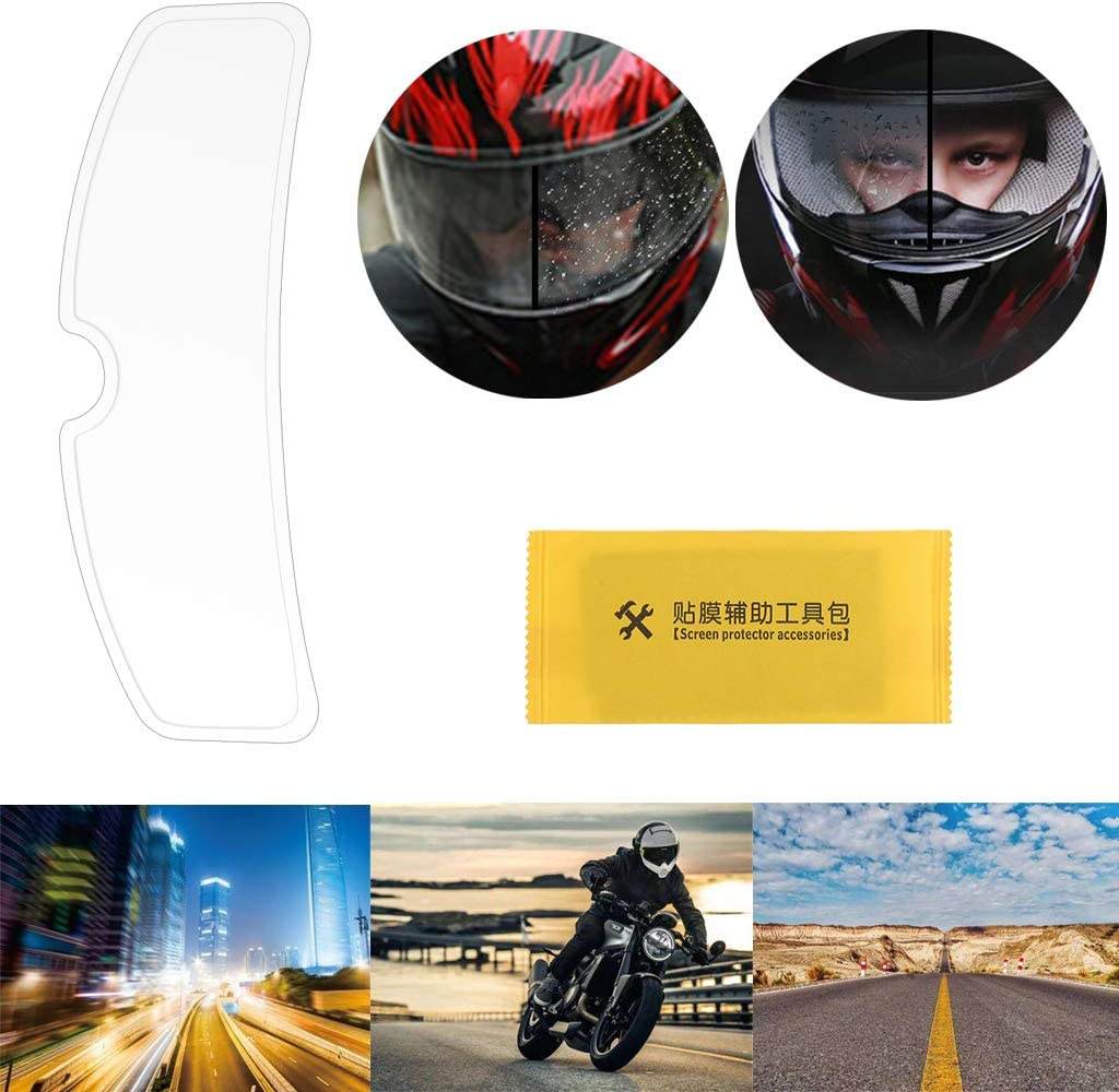 BUIDI Universal Motorradhelm Klare Regenschutzfolie Anti-Regen-Patch-Bildschirm f/ür K3 1 x Regenschutzfolie1 x Displayschutzzubeh/ör Transparent