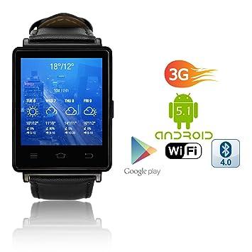 Amazon.com: indigi Sleek 3G Enabled SmartWatch Phone (GSM ...