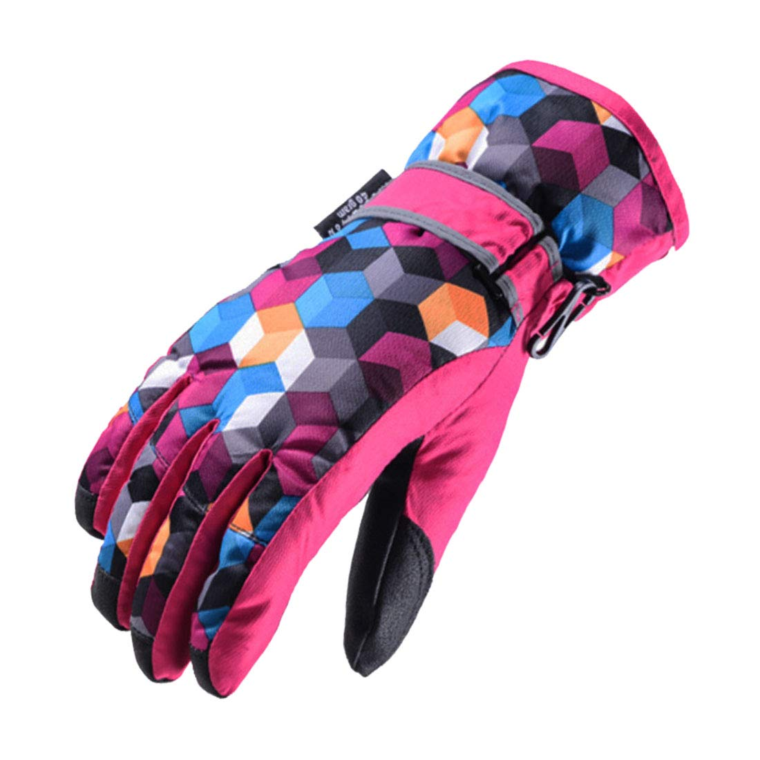 Xianheng Kids Ski Gloves Winter Warm Waterproof Windproof Thermal Children (S, Red) VF0158/XHCA1
