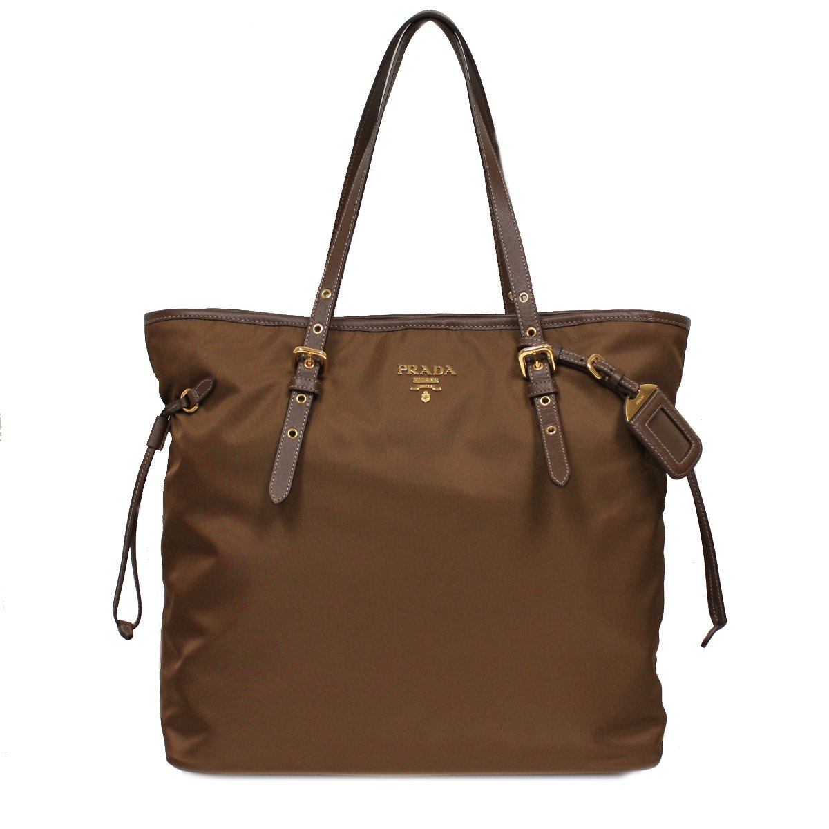 84726fad4d39 Amazon.com   PRADA BR4997 Tessuto Saffian Shopping Tote Bag Large Corinto  Brown Shoulder Handbag Purse   Everything Else