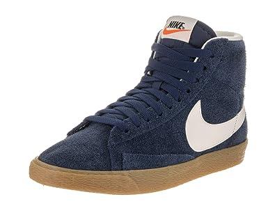 big sale b470c c880d Nike Women's Blazer Mid Suede Vntg Binary Blue/Ivory Casual Shoe 9 Women US