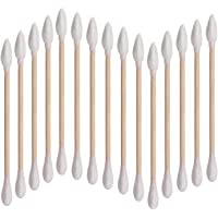 200pcs 3 Inch Double Tipped Cotton Swabs with Wooden Handle Precision Cotton Tipped Applicator
