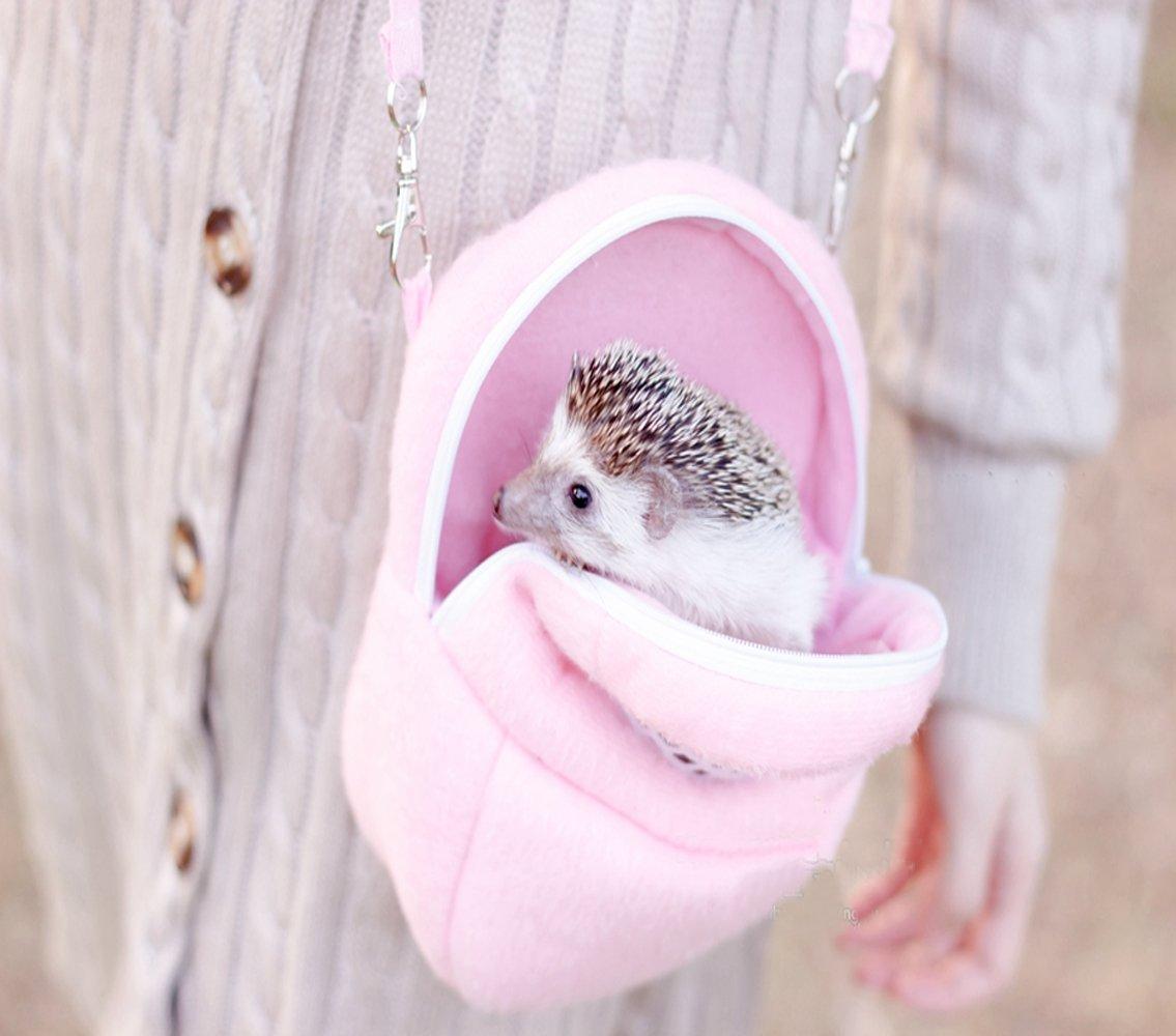 Rat Hamster Chinchilla Rabbit Ferret Hedgehog Outgoing Packet Bag Hanging Bed (L, Pink) Landgraab