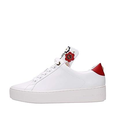 bb26e496805b Michael Kors Shoes Woman Low Sneakers 43S8MNFS1L Mindy Lace up White ...