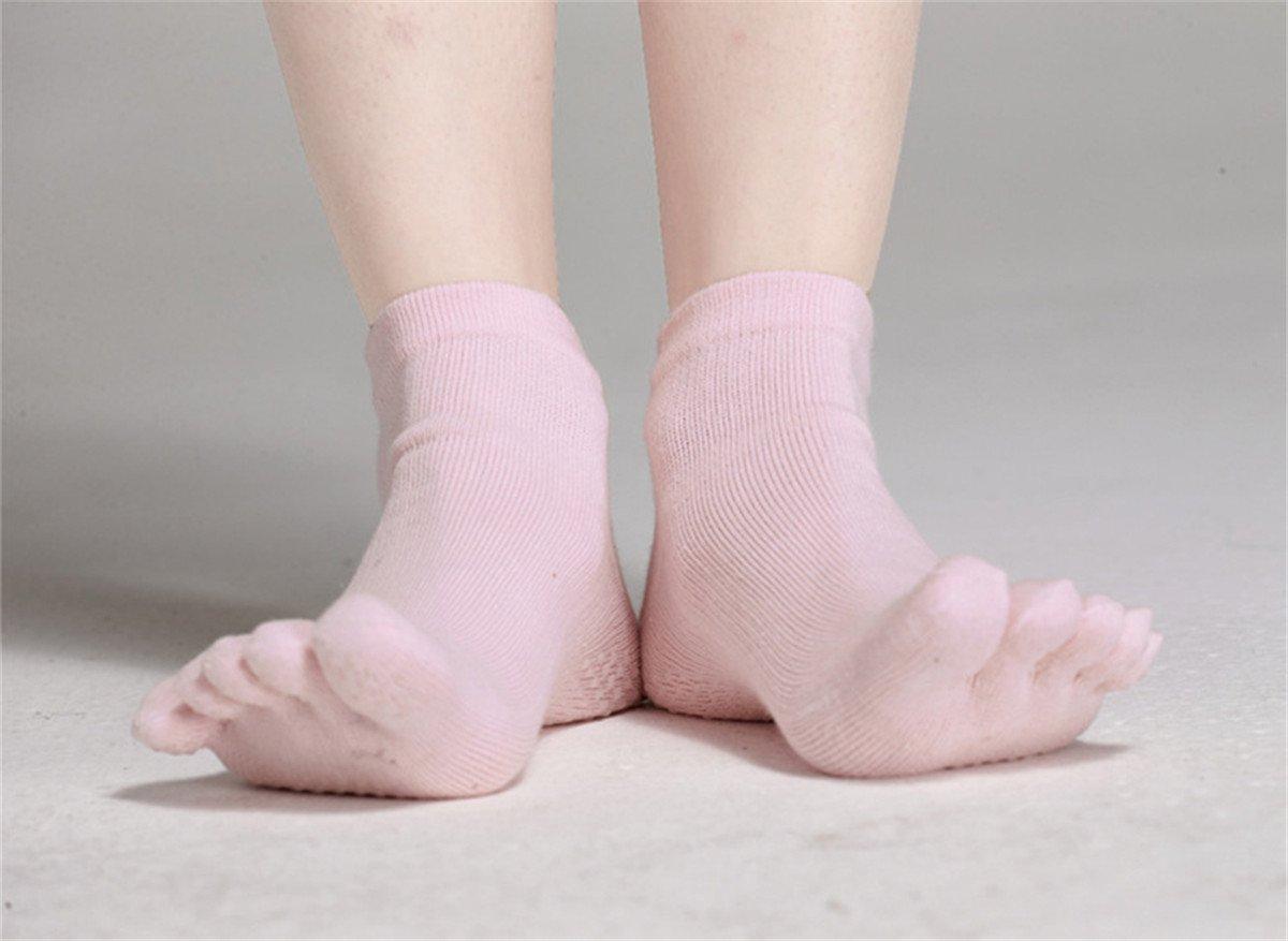 SANIQUEEN.G Mujer Deportes Yoga Pilates Calcetines y Guantes Conjunto, Algodón Antideslizante Calcetines del Dedo