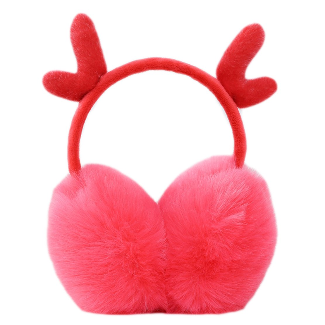 Freedi Women Earmuffs Faux Fur Reindeer Ear Warmers Winter Outdoor for Teens Girls Christmas Warm