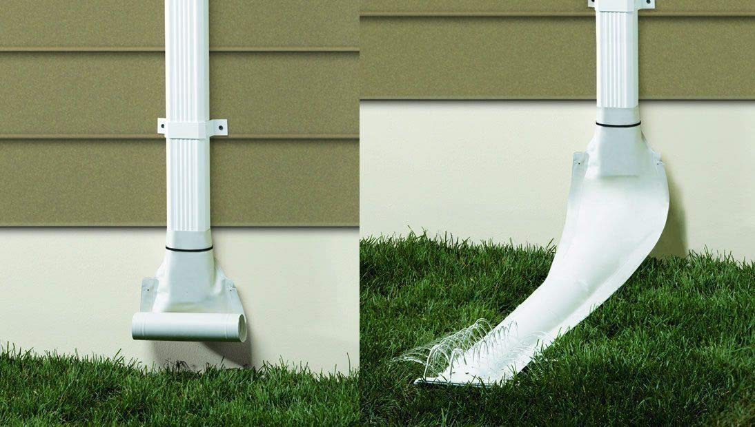 Frost King DE46WH 46'' x 8.5'' White Automatic Roll Out Downspout Extender - Quantity 2 by Frost King