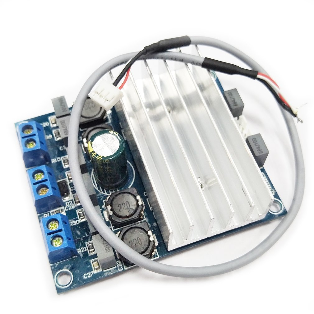 Hiletgo Tda7492 D Class High Power Digital Amplifier Audio Circuit Board Blue Silver Amp 250w With Radiator Clothing