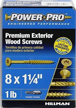 Hillman Available 48594 Power Pro Premium Exterior Wood Screw