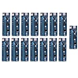 SATA Power Cable,15pcs USB 3.0 PCI-E Express 1x Extender Riser Card Adapter 6PIN Power Cable for BTC Mining