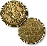 Saint Florian - Fireman Prayer Bronze Antique Challenge Coin