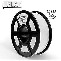 PLA Filament,3D Hero 3D Printer Filament,PLA White 1.75mm,Dimensional Accuracy +/- 0.02 mm,1.75 mm 1 kg Spool (2.2lbs)