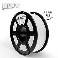3D Hero 3D Printer Filament,PLA White,Dimensional Accuracy +/- 0.02 mm,1.75 mm 1 kg Spool (2.2lbs)