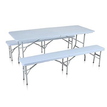 Strattore Ensemble Table Banc de Jardin en Plastique Traiteur ...