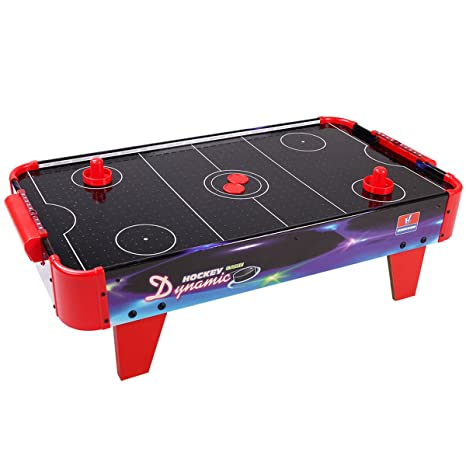 Giantex 32u201d Air Hockey Game Table For Kids With Powerful Dual Electric  Blowers Indoor Sports