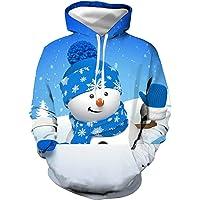 PPPPA Heren 3D Print Kerst Hooded Sweater Lange Mouw Fun Cosplay Kostuum Hoodie Hoodie Heren Kerst Trui 3D Print…