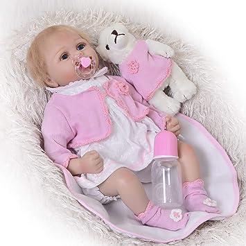 MGF Reborn Baby Doll, 55cm Silicona Realista con Chupete magnético ...