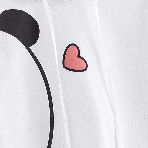 DEELIN Sudaderas De Gran TamañO De La Mujer, Moda Panda Suelta ImpresióN PequeñO Amor De Manga Larga Camiseta con Capucha Camisa Jersey Tops: Amazon.es: ...