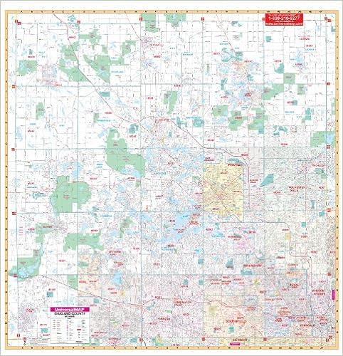 Amazon Com Oakland County Mi City Wall Maps 9780762551156