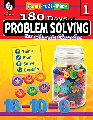 180 Days of Problem Solving for First Grade (180 Days of - Books Solving Problem Math